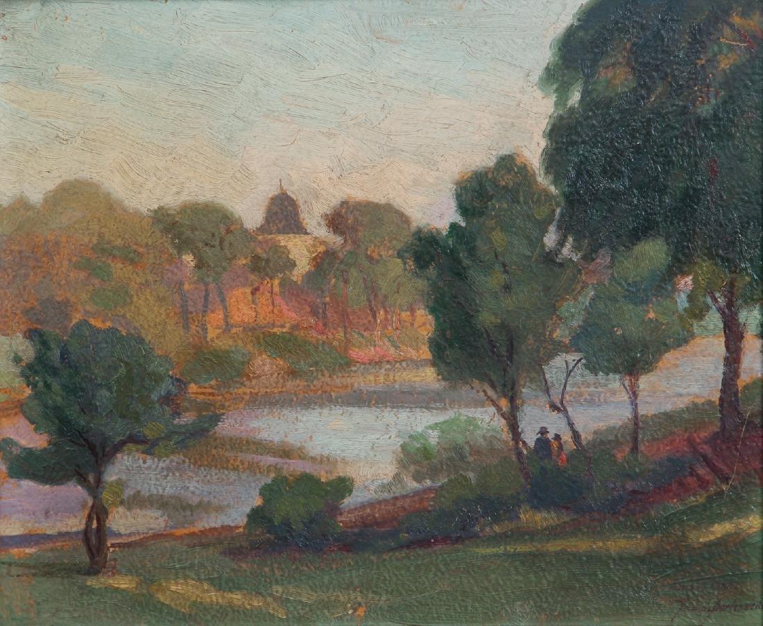 Impressionist View of  Humbolt Park, Chicago