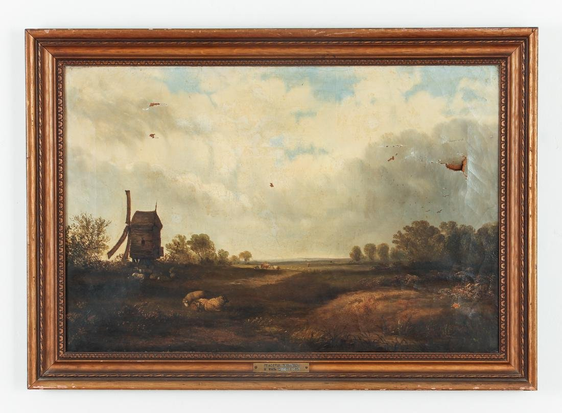 Unsigned Oil on Canvas Showing Sheep - 2