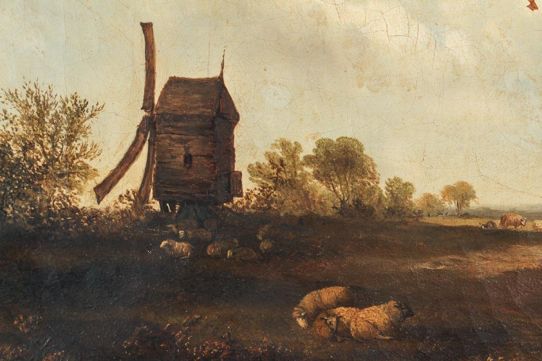 Unsigned Oil on Canvas Showing Sheep - 4