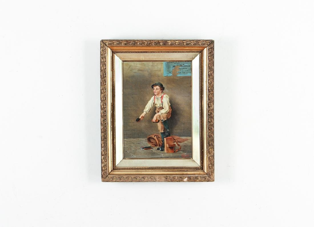 Victorian Painting of A Shoeshine Boy - 2