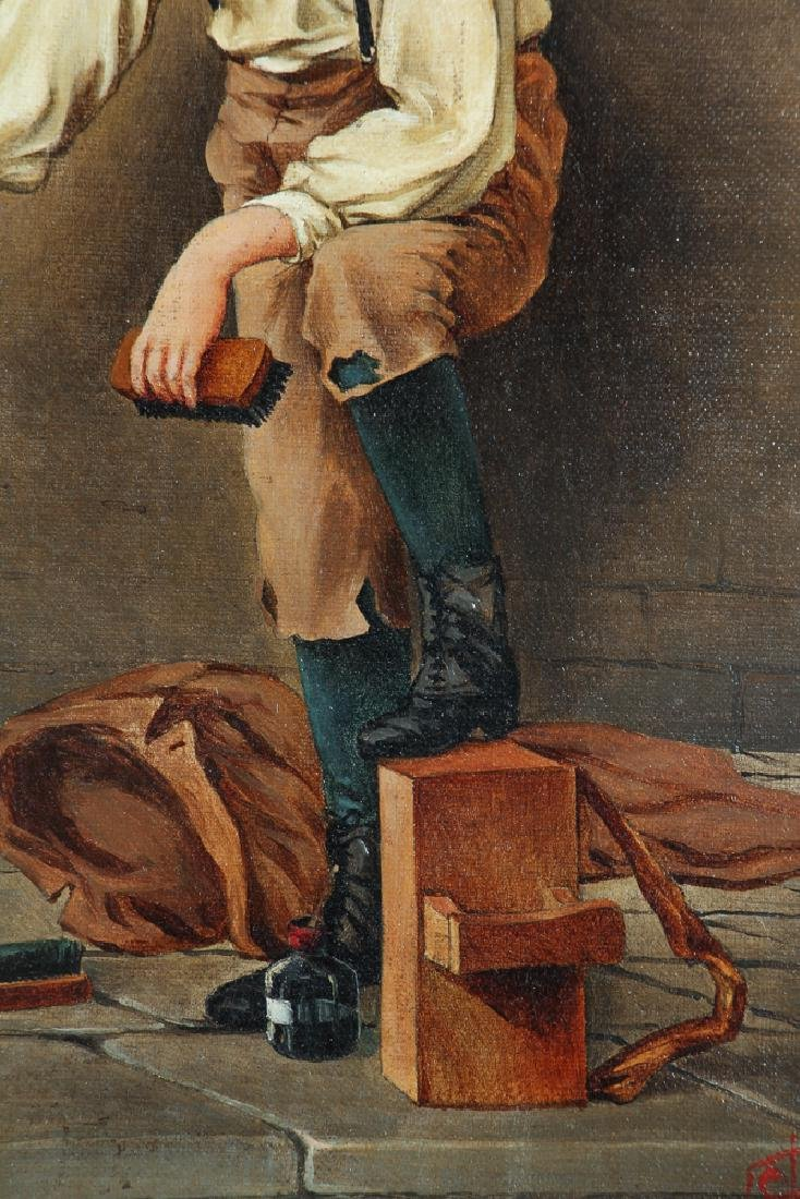 Victorian Painting of A Shoeshine Boy - 5