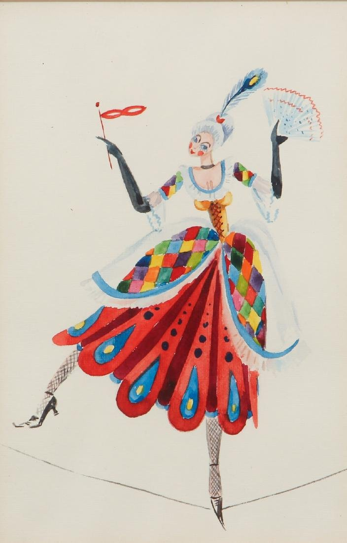 Coquette Tight Rope Walker after Leon Bakst