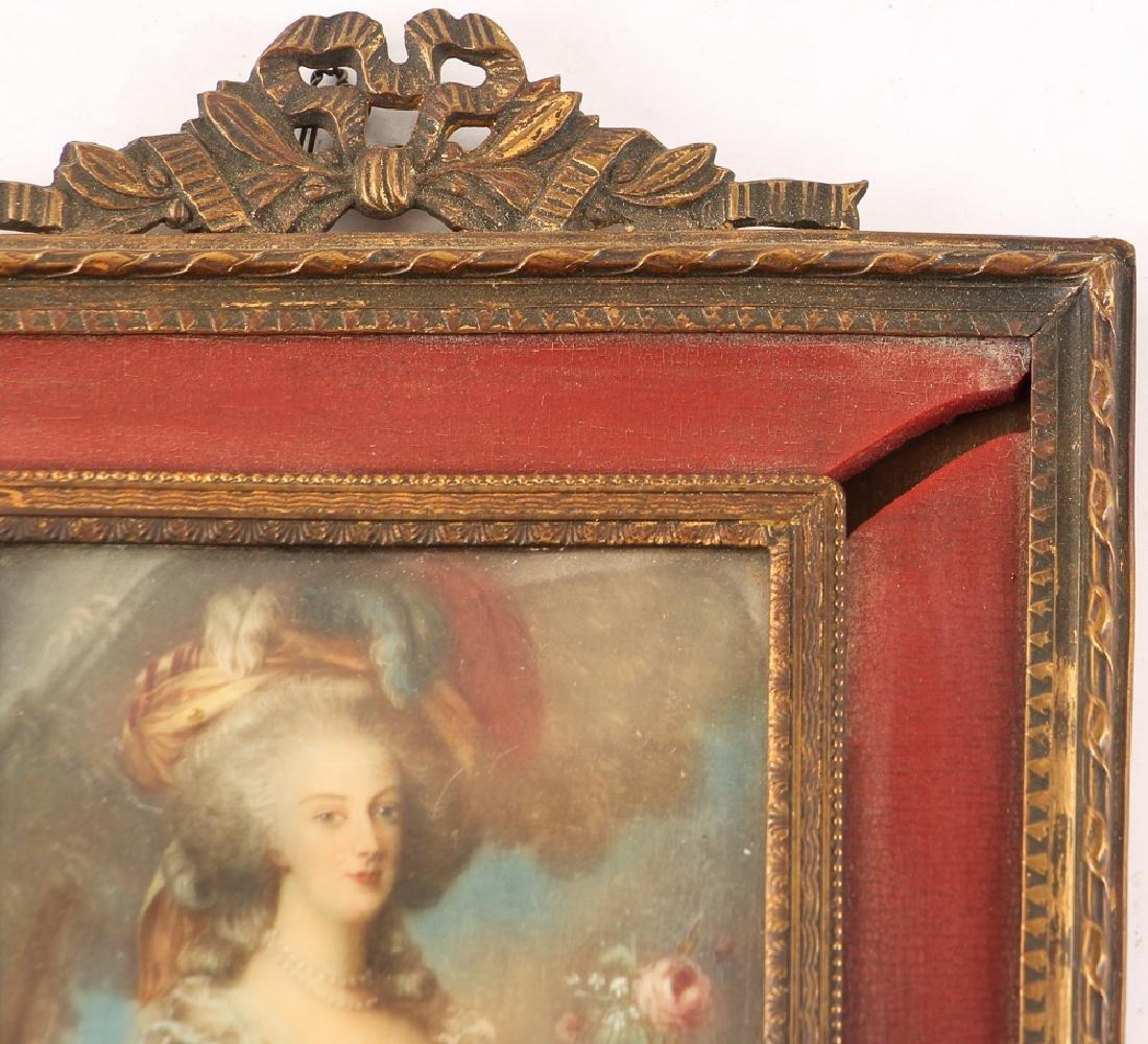 Three European Watercolor Portrait Miniatures - 4
