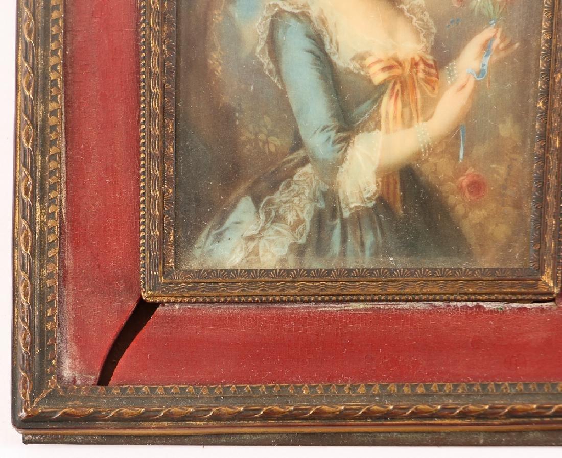 Three European Watercolor Portrait Miniatures - 5