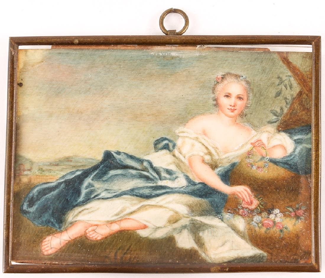 Three European Watercolor Portrait Miniatures - 7