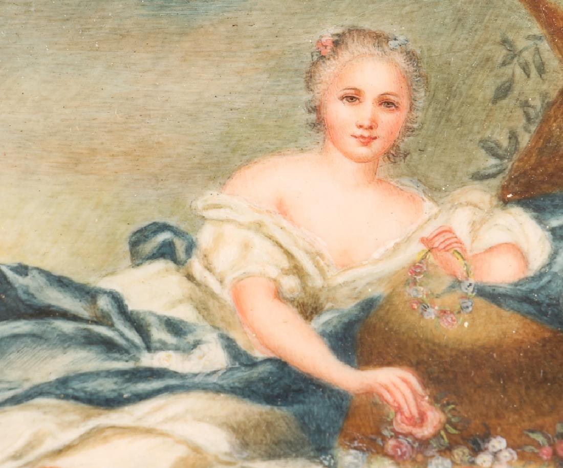 Three European Watercolor Portrait Miniatures - 8