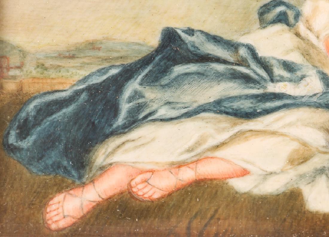 Three European Watercolor Portrait Miniatures - 9