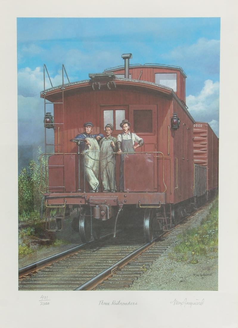 Group of Railroad Related Art Work - 4
