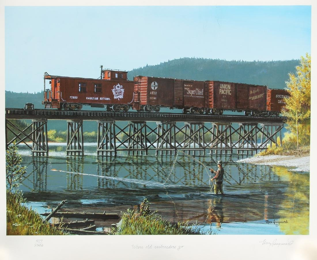 Group of Railroad Related Art Work - 6
