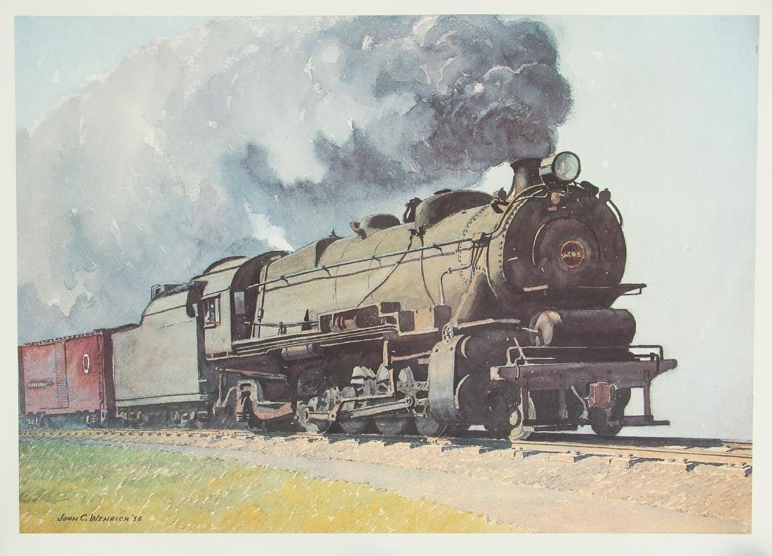 Group of Railroad Related Art Work - 8