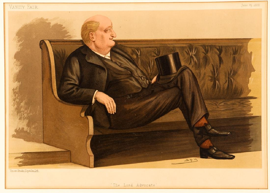7 framed Vanity Fair prints about Lawyers with 1