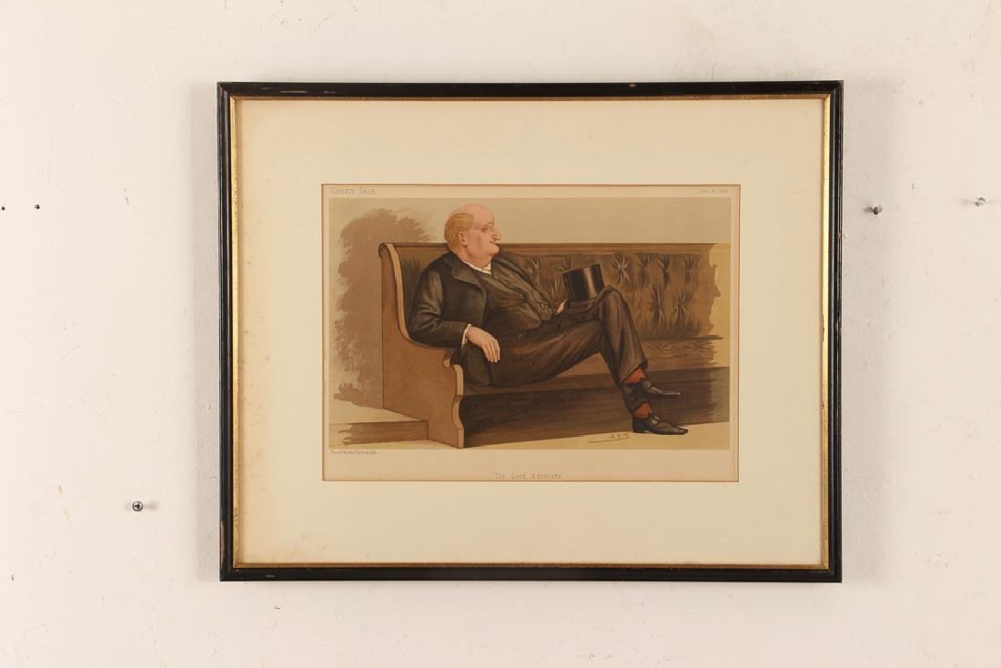 7 framed Vanity Fair prints about Lawyers with 1 - 2