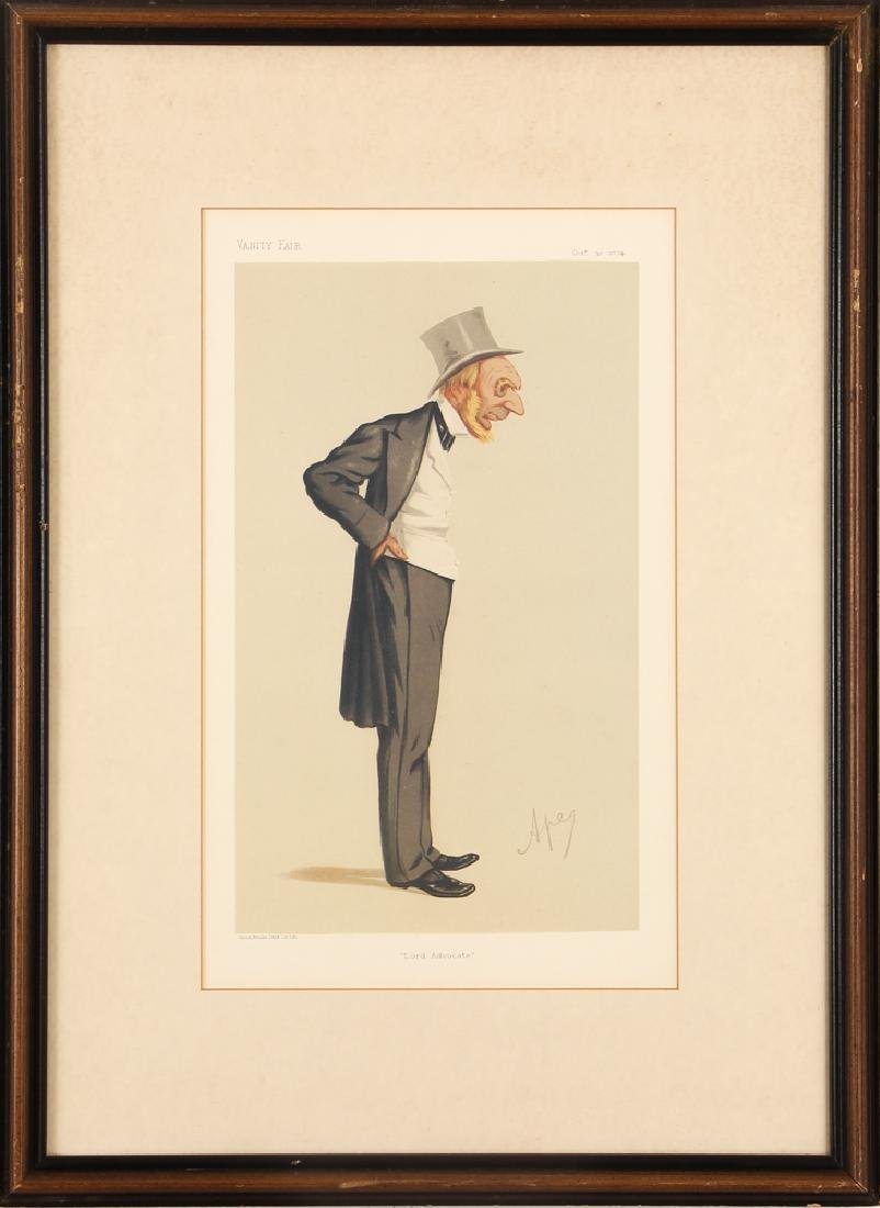 7 framed Vanity Fair prints about Lawyers with 1 - 3