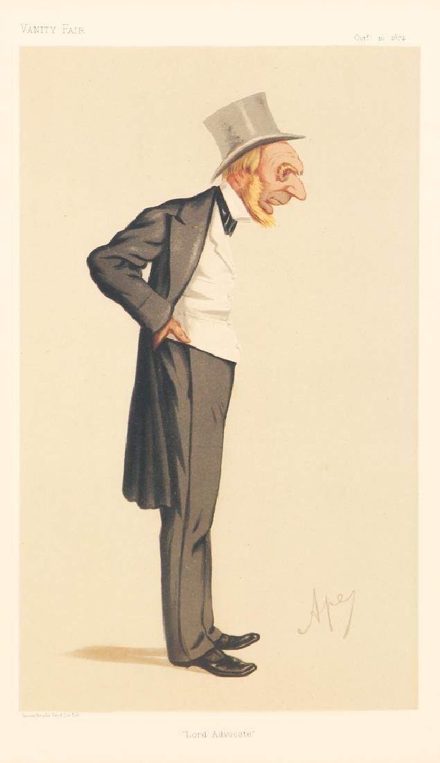 7 framed Vanity Fair prints about Lawyers with 1 - 4