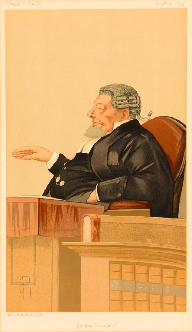 7 framed Vanity Fair prints about Lawyers with 1 - 6