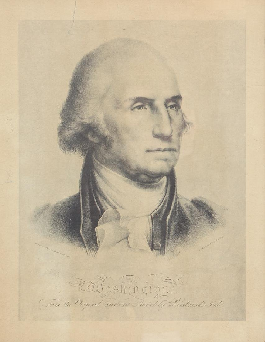 Copy of Pendleton Lithograph of Peale's Washington