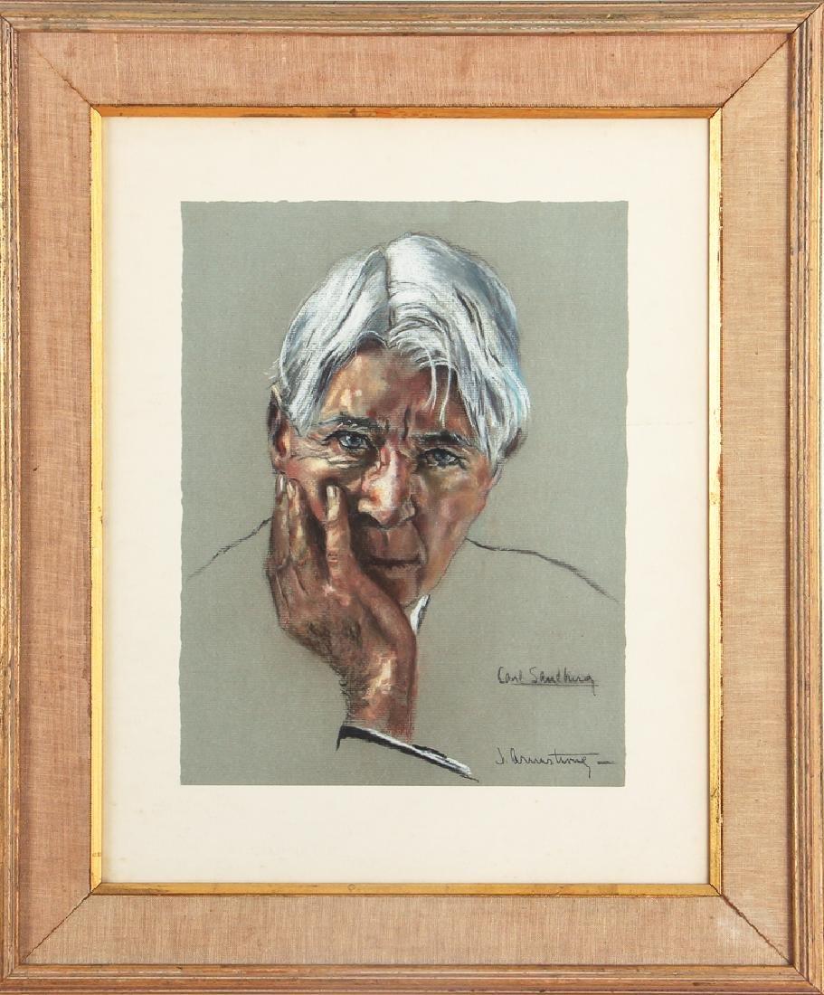 J. Armstrong pastel portrait Carl Sandberg - 2