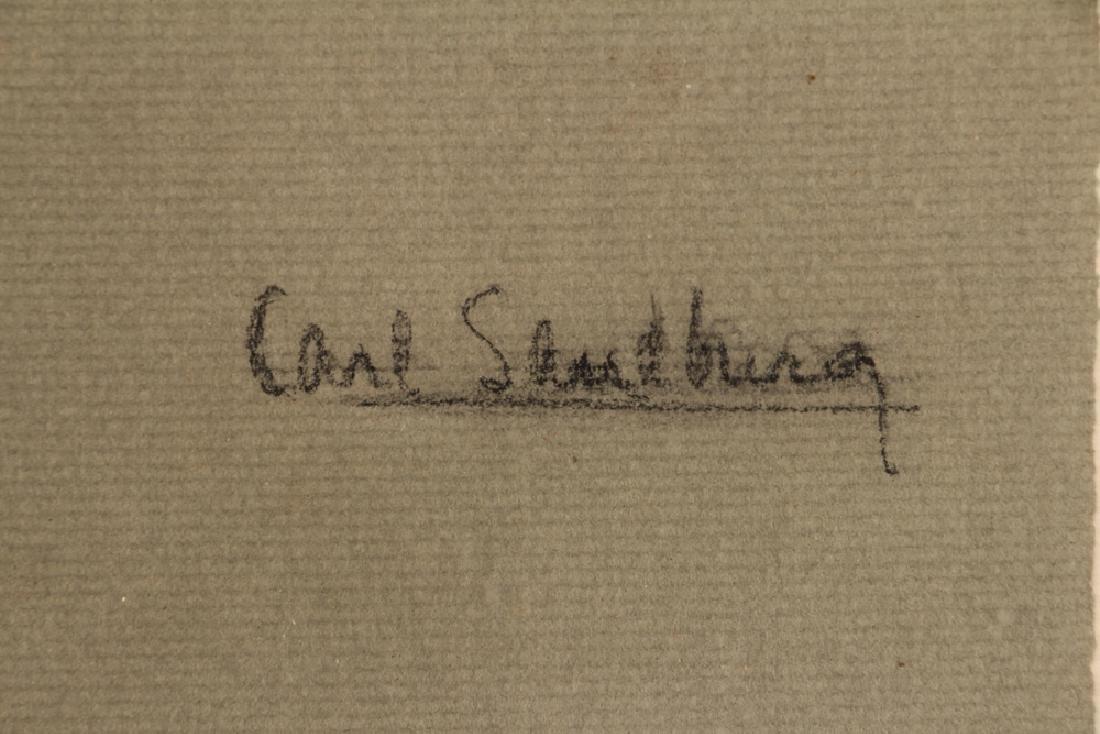 J. Armstrong pastel portrait Carl Sandberg - 4