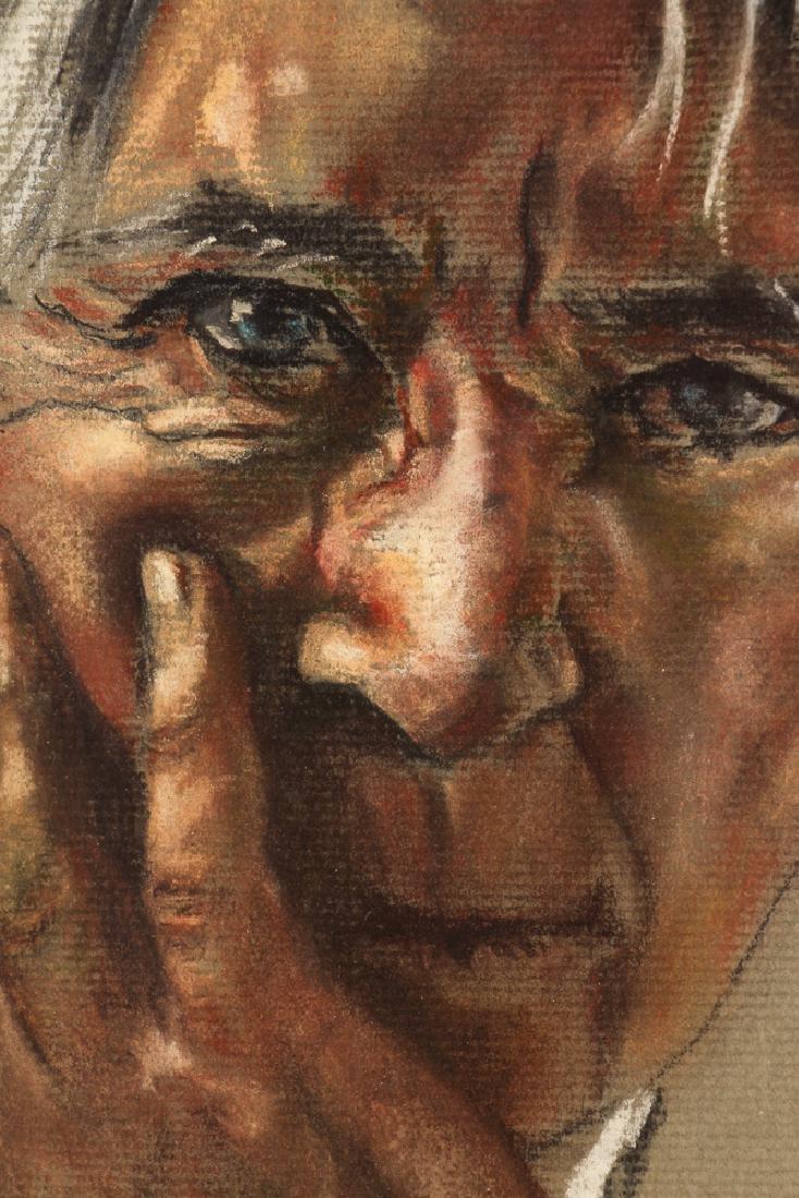 J. Armstrong pastel portrait Carl Sandberg - 5