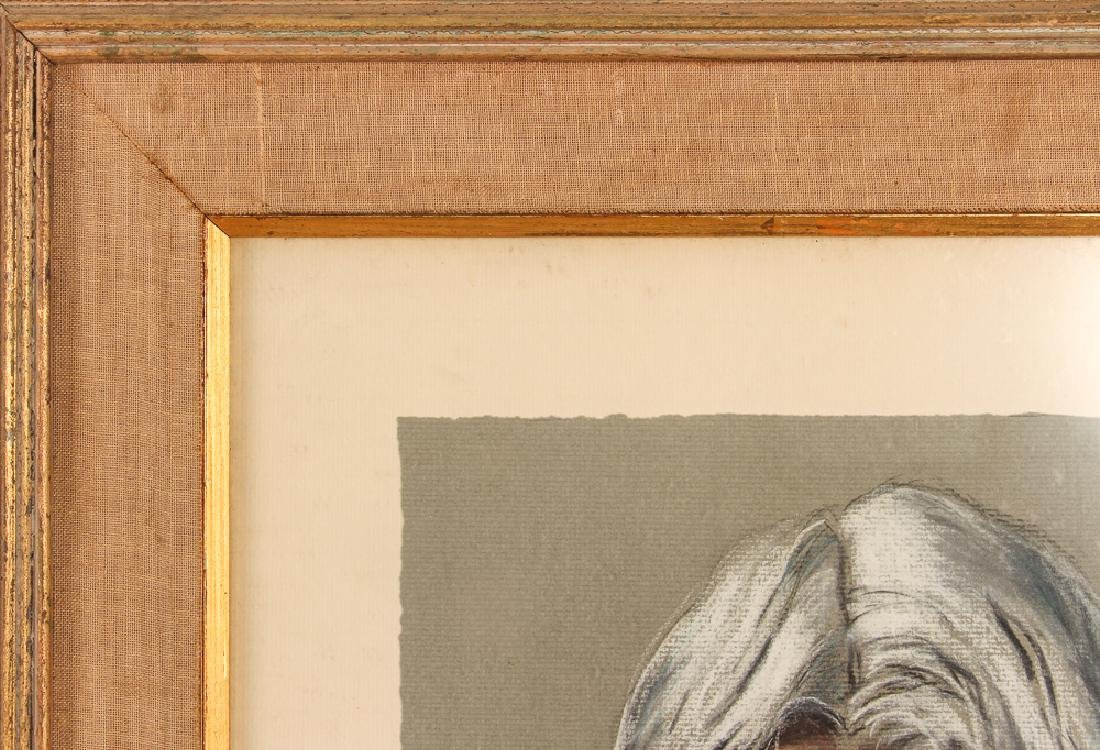 J. Armstrong pastel portrait Carl Sandberg - 6