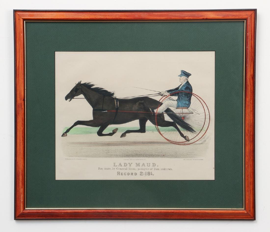 2 Currier and Ives, Lady Maud Trotter with Horses in a - 2