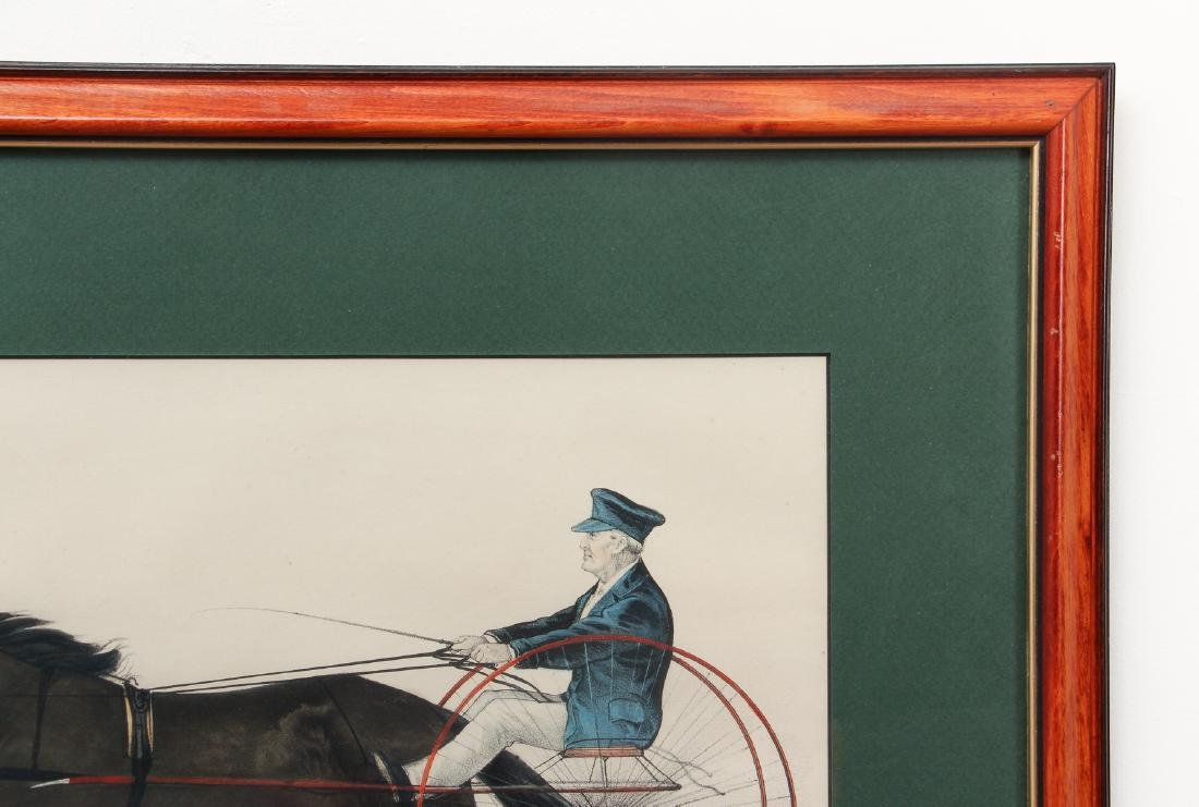 2 Currier and Ives, Lady Maud Trotter with Horses in a - 5