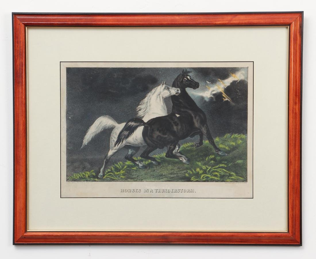 2 Currier and Ives, Lady Maud Trotter with Horses in a - 6