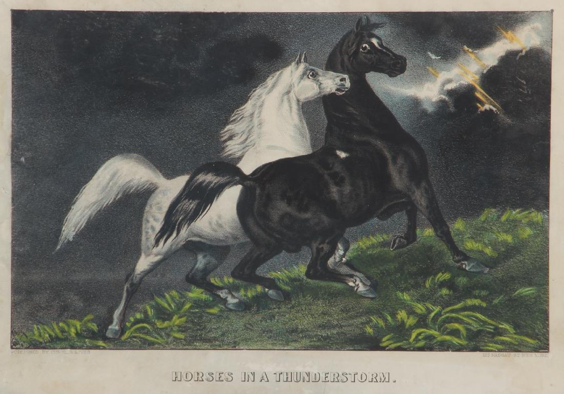 2 Currier and Ives, Lady Maud Trotter with Horses in a - 7
