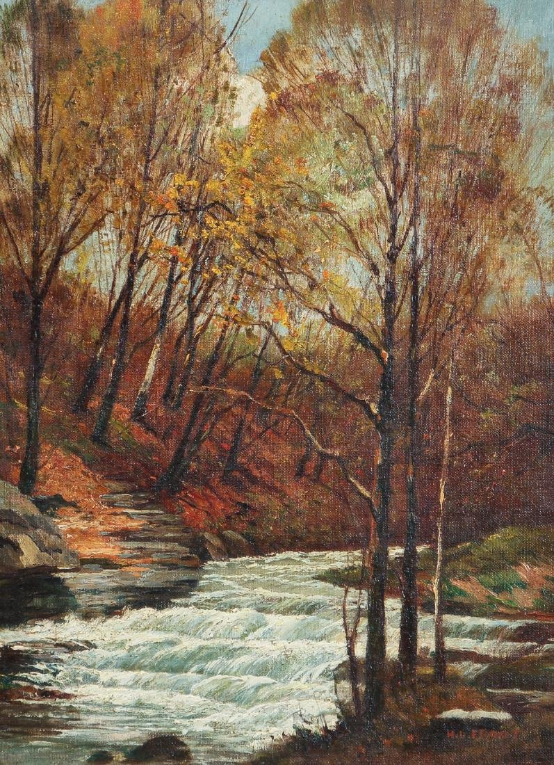 H. D. Froot oil Woodland Stream in Autumn