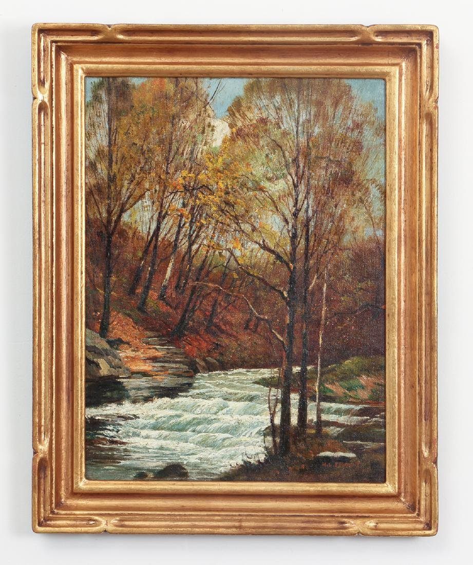 H. D. Froot oil Woodland Stream in Autumn - 2