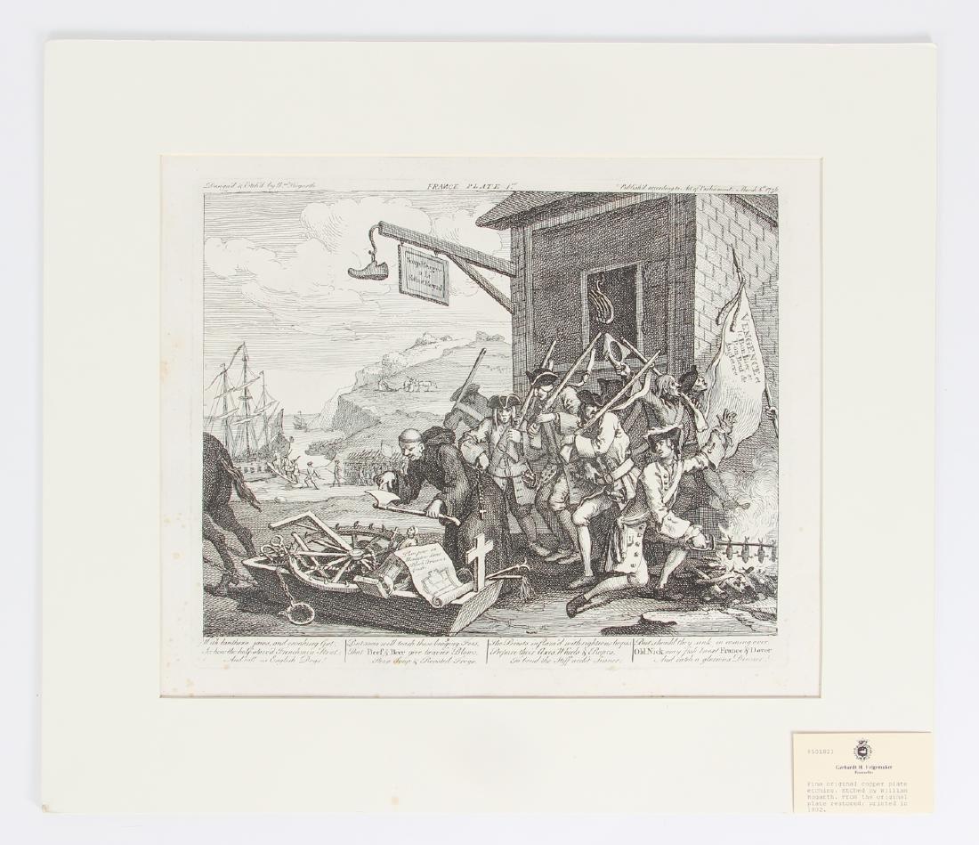 William Hogarth engraving 1756, France Plate I - 2