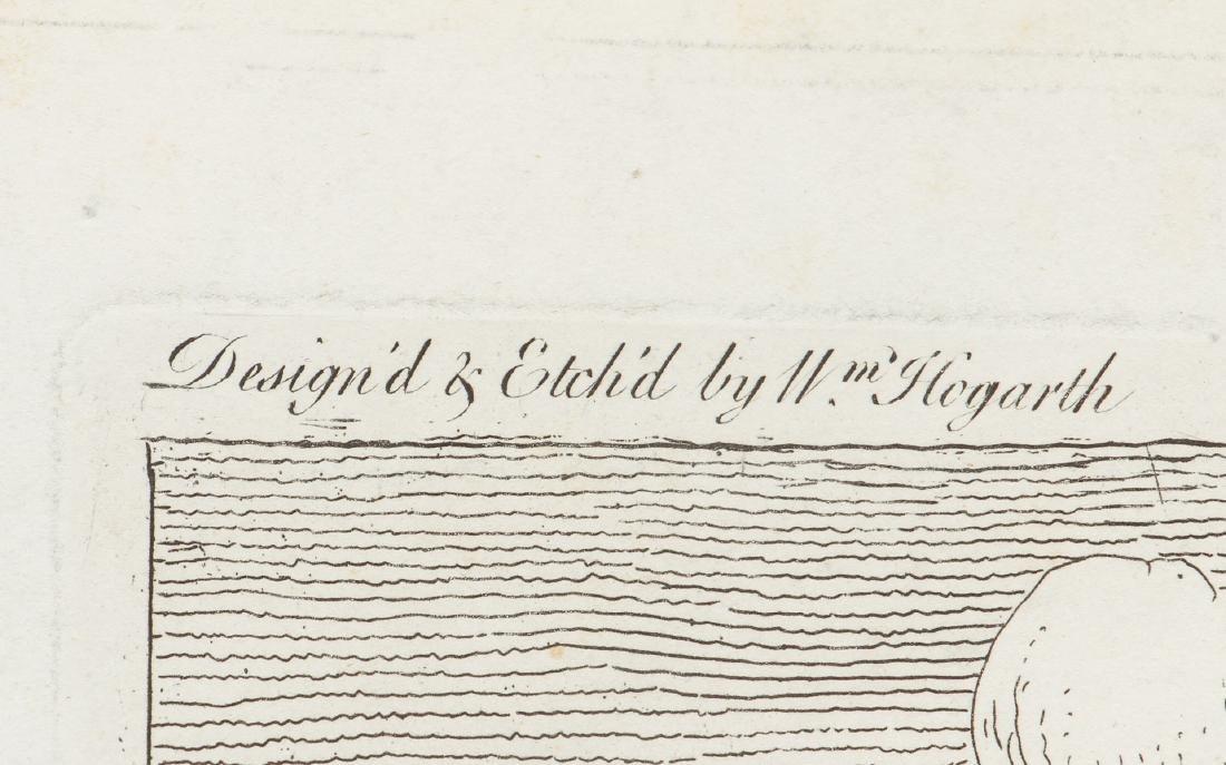 William Hogarth engraving 1756, France Plate I - 4