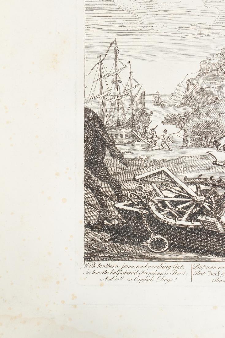 William Hogarth engraving 1756, France Plate I - 6