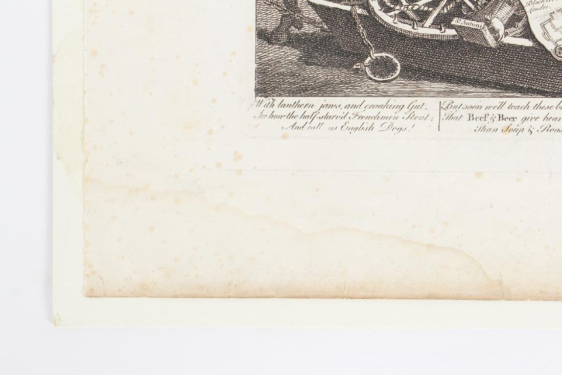 William Hogarth engraving 1756, France Plate I - 7