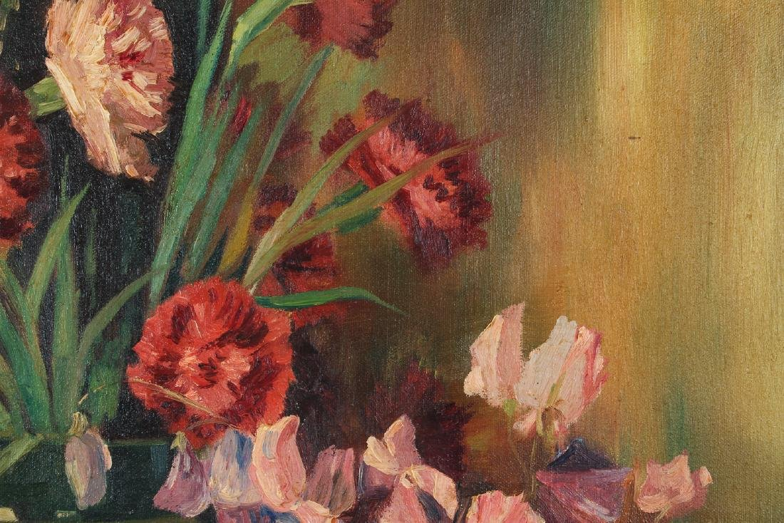 Floral Still Life Oil Painting circa 1940 - 4