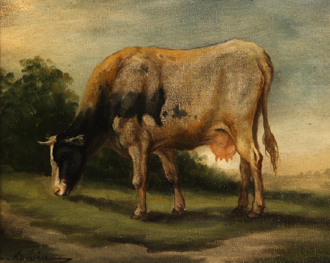 C. Kelvin painting Dairy Cow in a Field