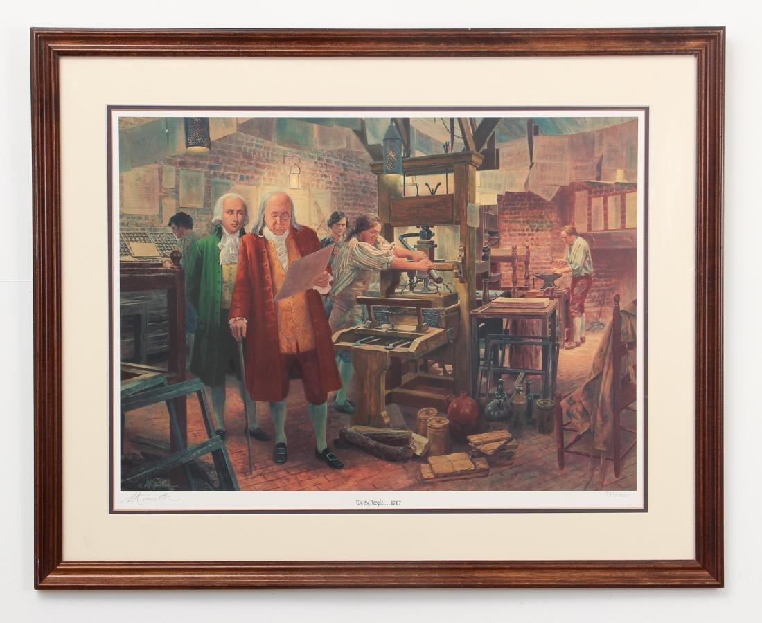 Mort Kunstler We The People Lithograph - 2