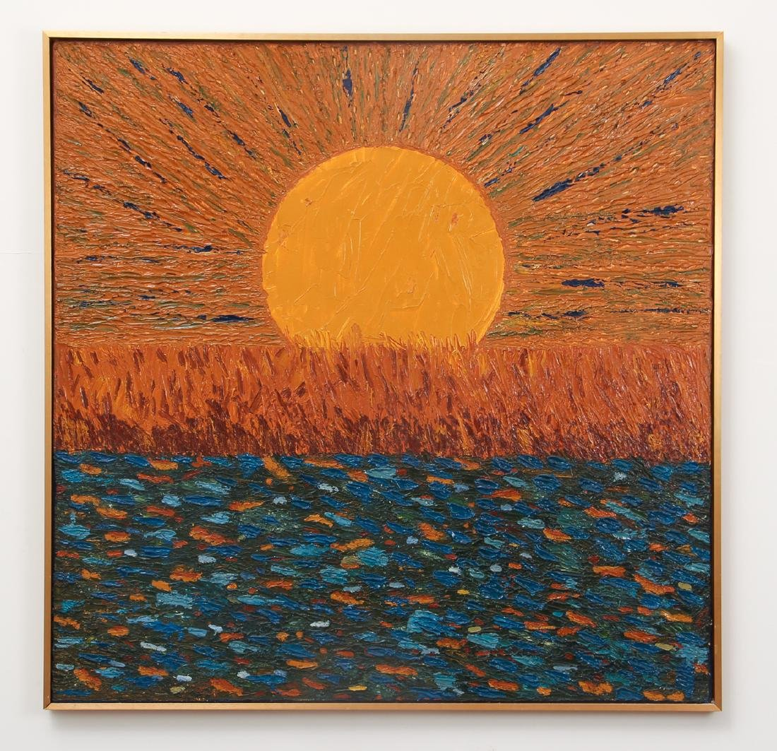 Post Impressionist Sunset Painting after Van Gogh - 2