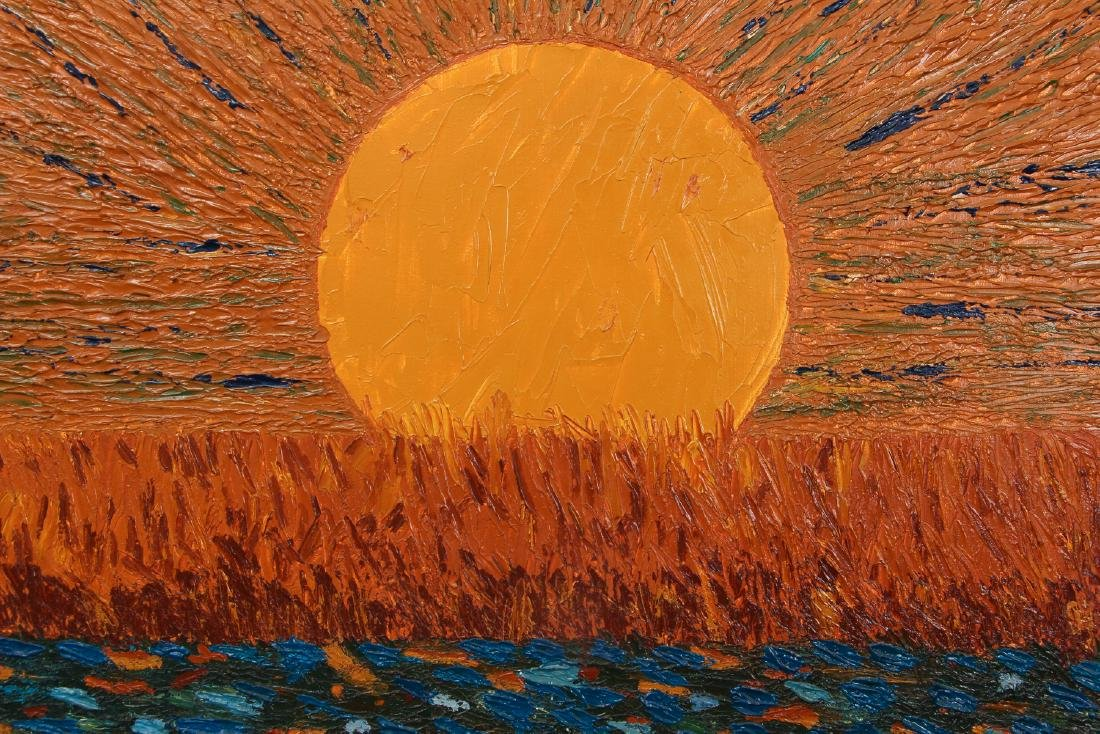 Post Impressionist Sunset Painting after Van Gogh - 3