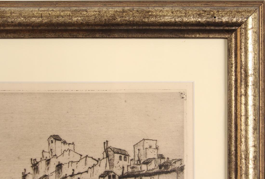 Milan Petrovic etching  Ponte Vecchio, Florence - 6