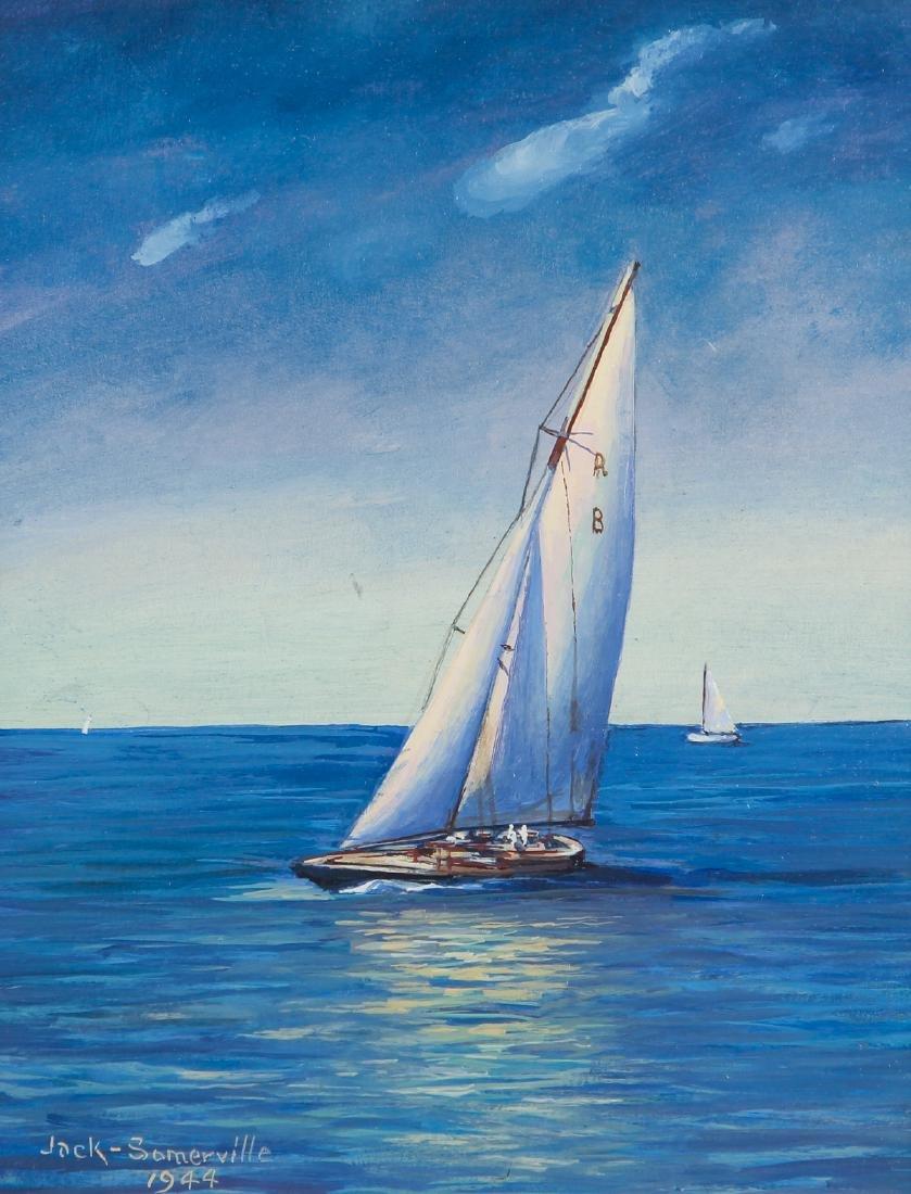 Jack Somerville oil Sailing Boats
