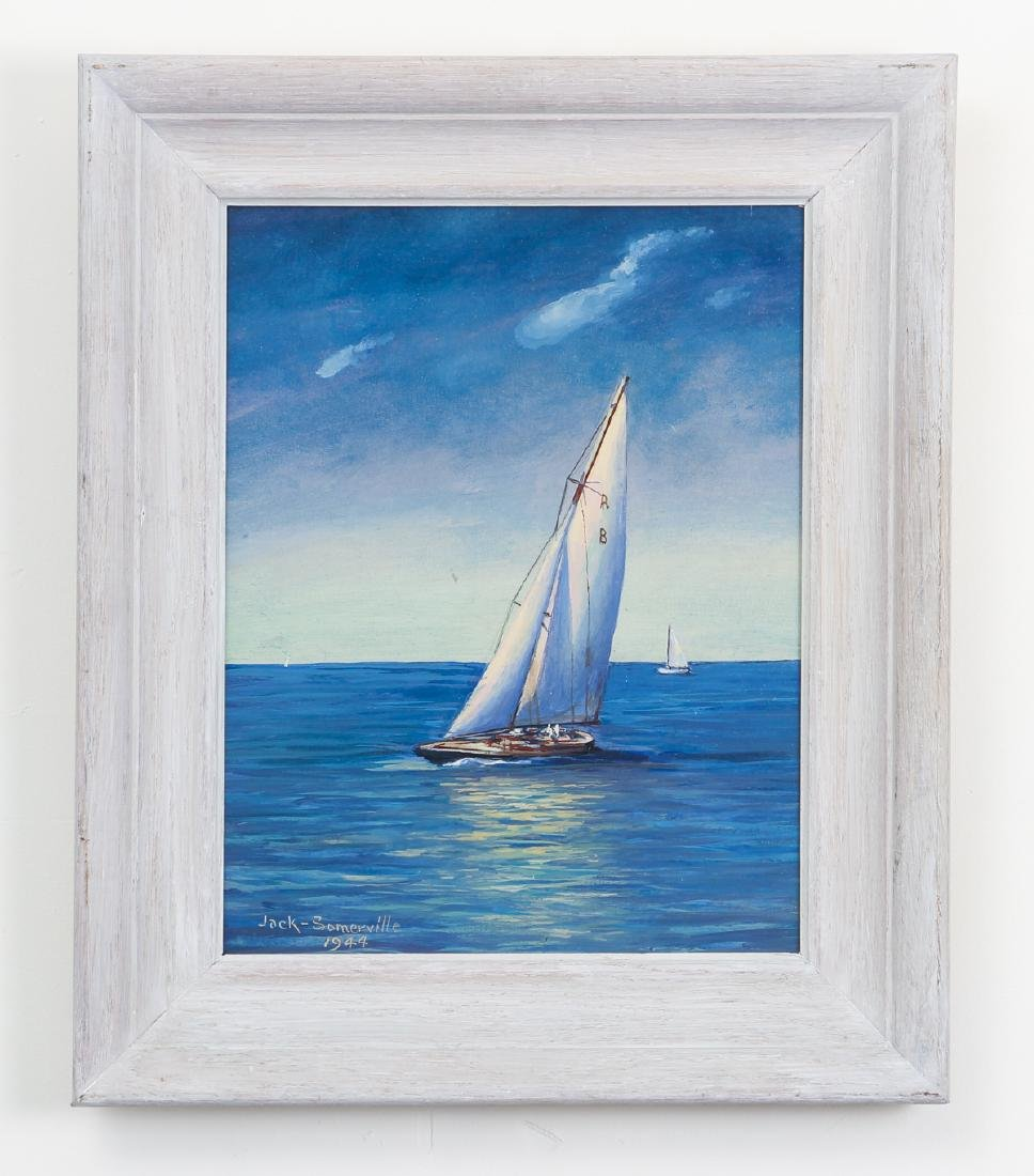 Jack Somerville oil Sailing Boats - 2