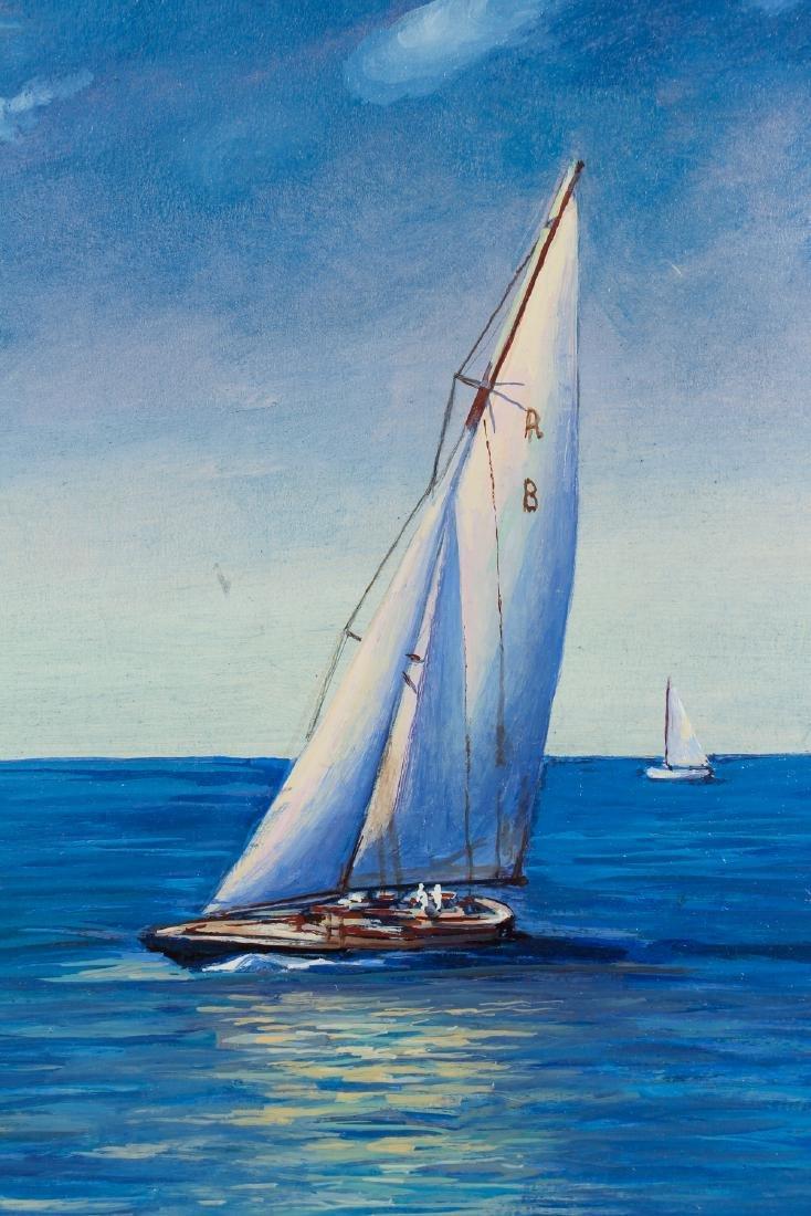 Jack Somerville oil Sailing Boats - 4