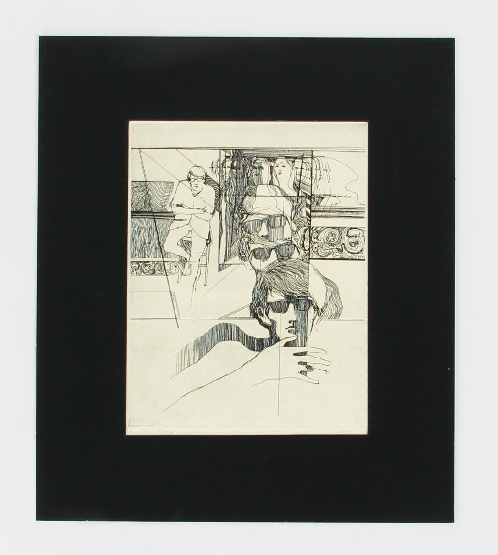 Collection of Larry Spaid etchings and drawings - 7