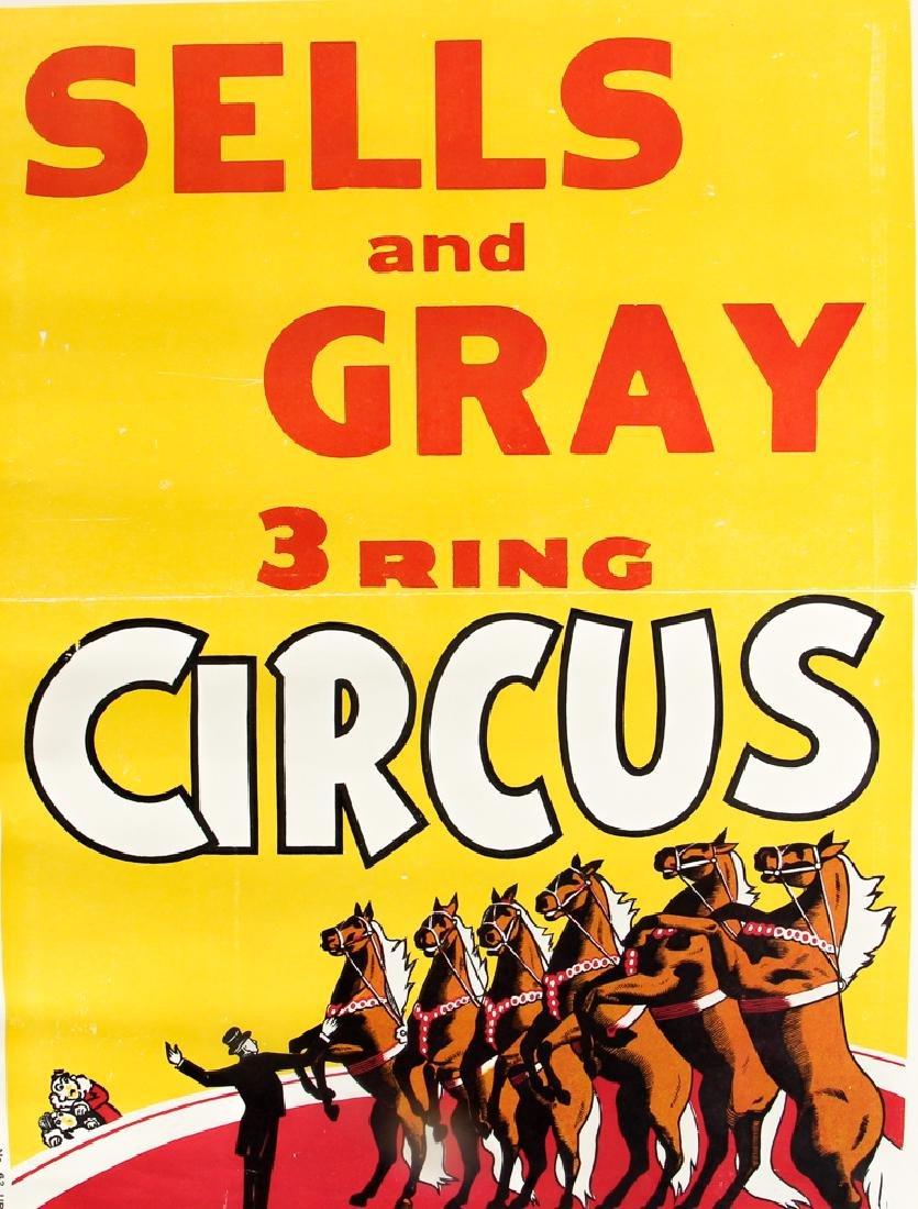 Three Sells and Gray Circus Posters