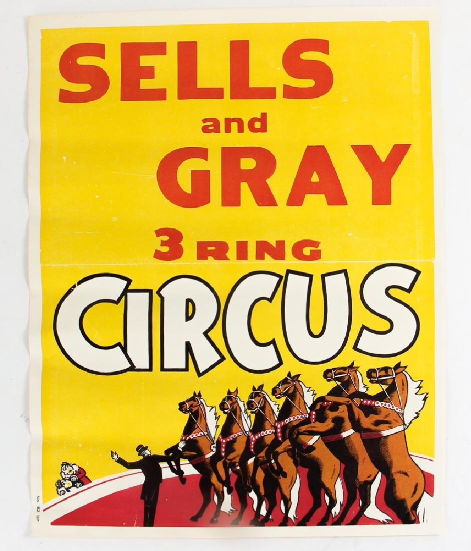 Three Sells and Gray Circus Posters - 2