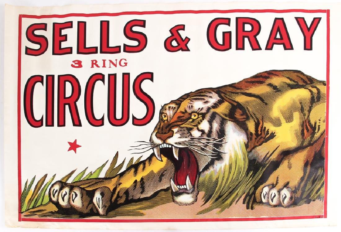 Three Sells and Gray Circus Posters - 6