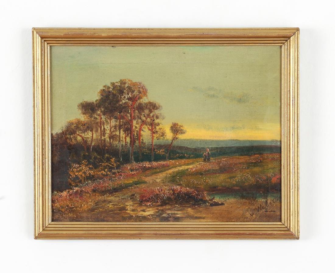 H Weber oil Victorian Landscape at Twilight - 2