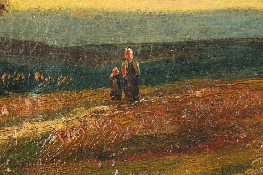 H Weber oil Victorian Landscape at Twilight - 4
