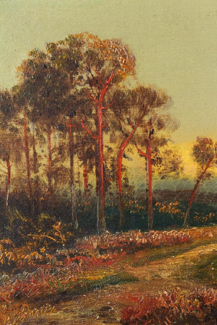 H Weber oil Victorian Landscape at Twilight - 5